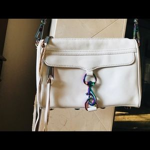 Rebecca minkoff crossbody bag white /special chain